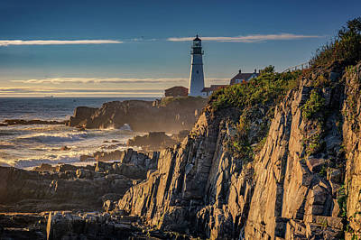 Photograph - Portland Head Light And The Shores Of Casco Bay by Rick Berk