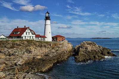 Photograph - Portland Head Light by Arthur Dodd