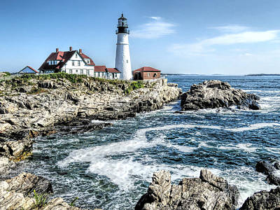 Photograph - Portland Head Light Cape Elizabeth Me by Janice Drew