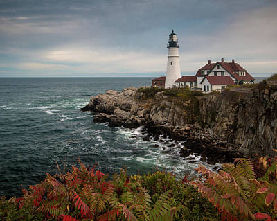 Photograph - Portland Head Light In The Fall by Jim Cheney