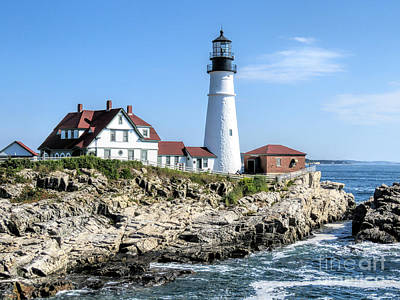 Photograph - Portland Head Light by Janice Drew