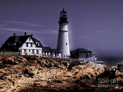 Photograph - Portland Head Lighthouse by Marcia Lee Jones