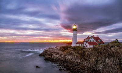 Photograph - Portland Head Light by Mark Papke