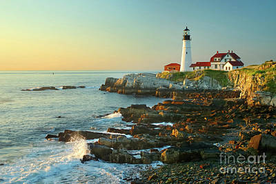 New England Lighthouse Photograph - Portland Head Light No. 2  by Jon Holiday