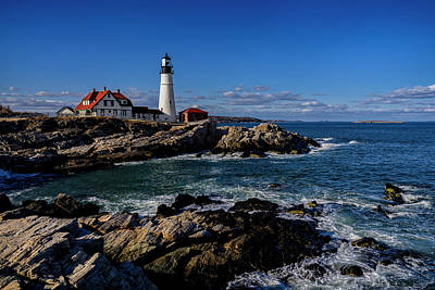 Photograph - Portland Head Light No.32 by Mark Myhaver