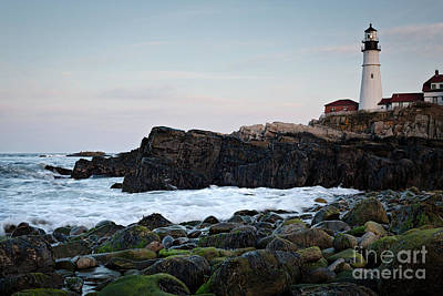 Photograph - Portland Head Light, North Shore #7958-7968 by John Bald