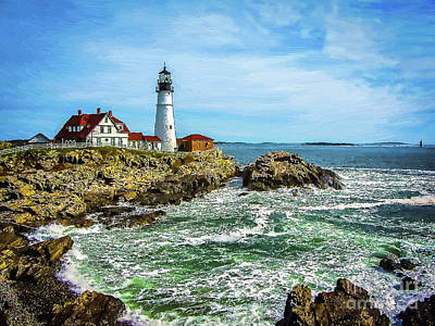Photograph - Portland Head Light - Oldest Lighthouse In Maine by Bill and Deb Hayes