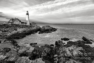 Keepers House Photograph - Portland Head Light by Olivier Le Queinec
