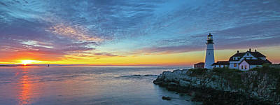 Photograph - Portland Head Light Sunrise by Juergen Roth