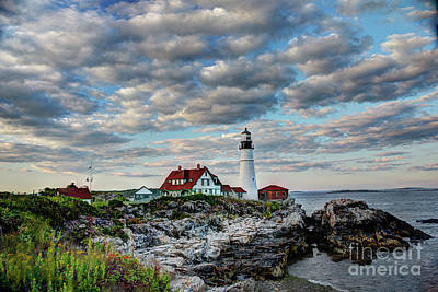 Photograph - Portland Head Light Sunset by Jean Hutchison