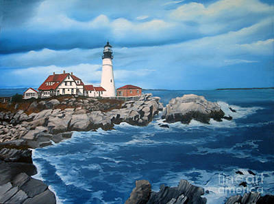 Portland Head Light Art Print by Tobi Czumak