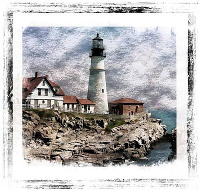 Photograph - Portland Head Lighthouse 2 by Marcia Lee Jones