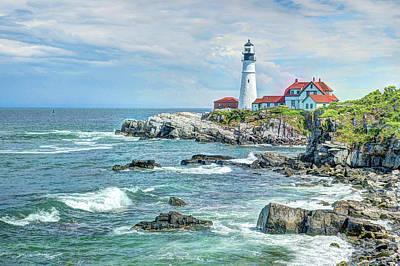 Portland Lighthouse Photograph - Portland Head Lighthouse #3 by Joe Granita