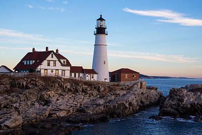 Photograph - Portland Head Lighthouse by Allan Morrison