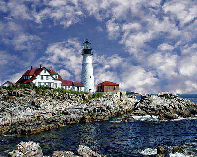 Photograph - Portland Head Lighthouse by Anthony Dezenzio