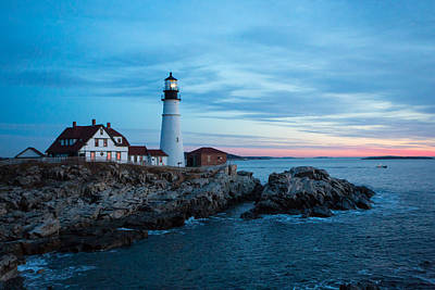 Photograph - Portland Head Lighthouse At Sunrise by Allan Morrison