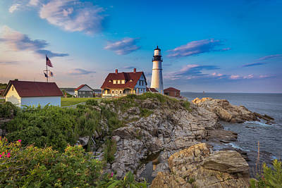 Photograph - Portland Head Lighthouse by Cindy Lark Hartman