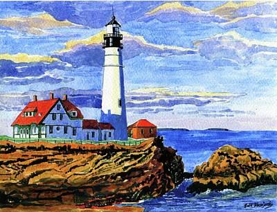 Painting - Portland Head Lighthouse by Jeff Blazejovsky