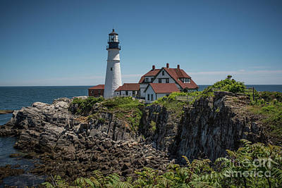 Photograph - Portland Head Lighthouse by Judy Wolinsky