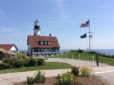 Photograph - Portland Head Lighthouse Maine by Bob Johnson