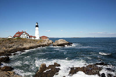 Photograph - Portland Head Lighthouse Maine by Steven Frame