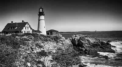 Photograph - Portland Head Lighthouse by Mick Burkey