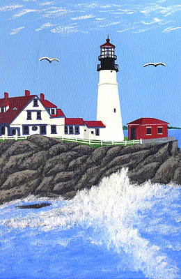 Painting - Portland Head Lighthouse Painting by Frederic Kohli