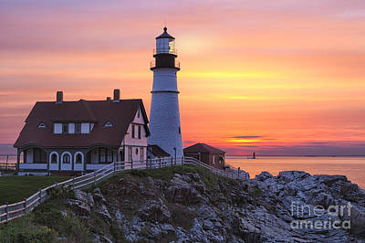 Portland Head Lighthouse Sunrise Art Print
