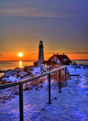 Photograph - Portland Head Lighthouse Sunrise - Maine by Joann Vitali
