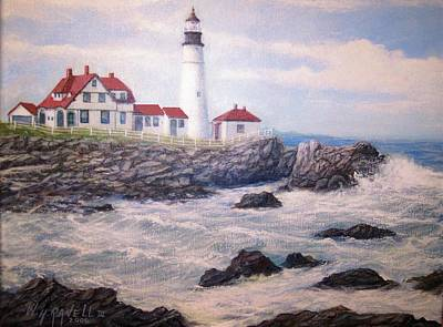 Portland Head Lighthouse Art Print by William H RaVell III