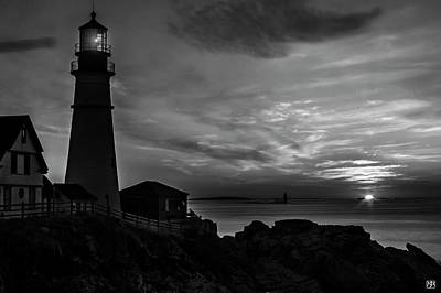 Photograph - Portland Head Noir by John Meader