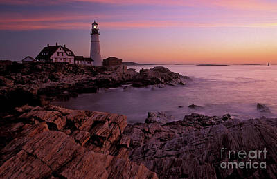Photograph - Portland Headlight 2, Maine2 by Tibor Vari