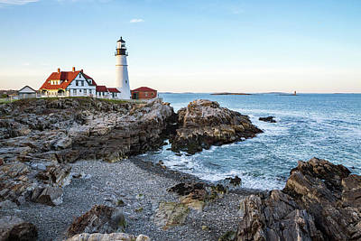 Photograph - Portland Headlight And Ram Island Light by Robert Clifford