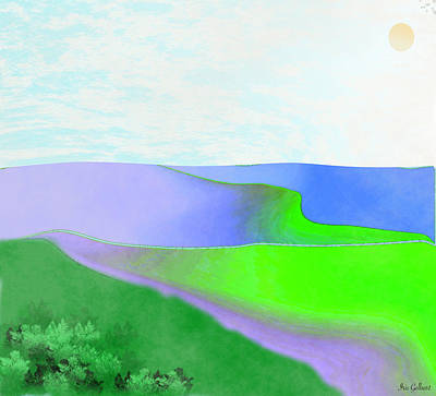 Digital Art - Portland Hills by Iris Gelbart