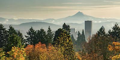 Photograph - Portland In Autumn by Don Schwartz