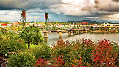 Photograph - Portland In The Fall by Walt Baker