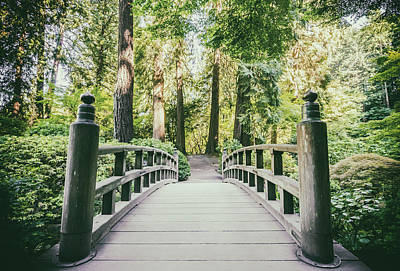 Photograph - Portland Japanese Garden Bridge by Anthony Doudt