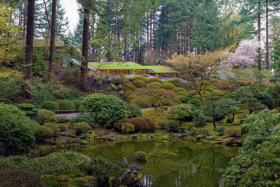 Photograph - Portland Japanese Garden By The Lake by David Gn