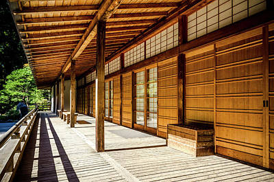 Photograph - Portland Japanese Garden Golden Hour by Anthony Doudt
