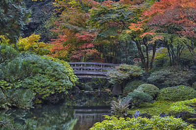 Photograph - Portland Japanese Garden by Mark Kiver