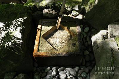 Photograph - Portland Japanese Garden Sozu Water Fountain Portland Oregon Dsc6708 by Wingsdomain Art and Photography