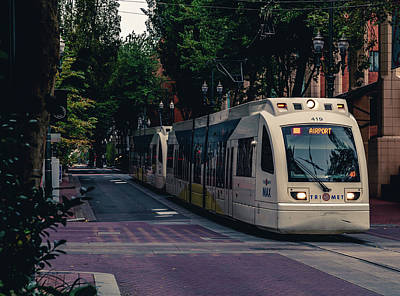 Photograph - Portland Light Rail by Nisah Cheatham