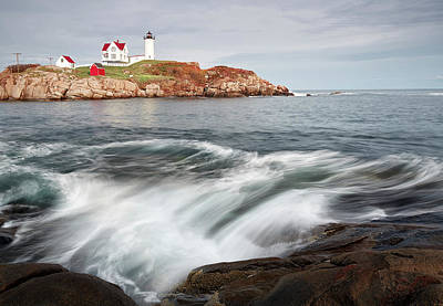 Neddick Photograph - Portland Lighthouse by Jon Glaser
