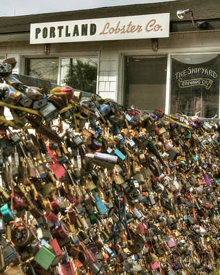 Photograph - Portland Lobster Co - Locks Of Love by Joann Vitali