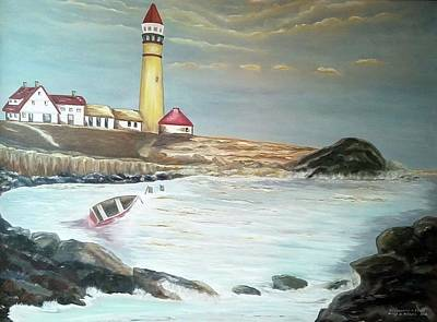Painting - Portland Maine Harbor I by Bernadette Krupa