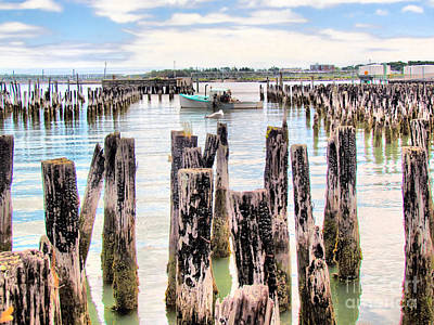 Fore River Photograph - Portland Maine Historic Waterfront by Elizabeth Dow