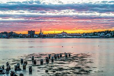 Fore River Photograph - Portland Maine Sunset II by Tim Sullivan