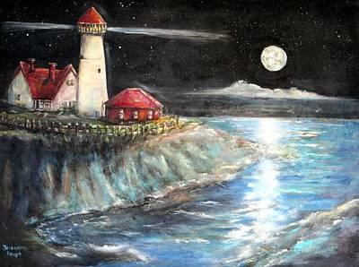 Portland Maine Twilight Art Print