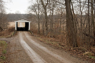 Photograph - Portland Mills Covered Bridge by David Arment