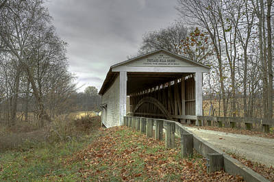 Photograph - Portland Mills/dooley Station Covered Bridge by Jack R Perry